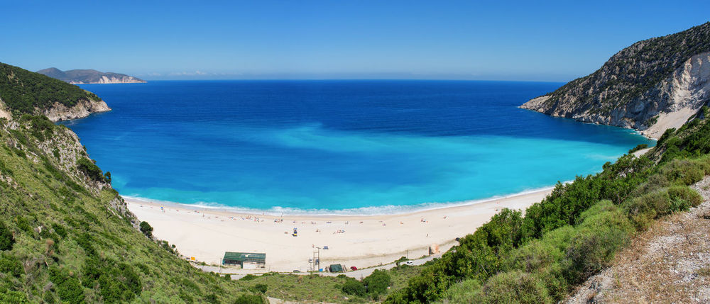 The famous and beautiful Myrtos Beach Amazing Beach Beauty In Nature Blue Cephalonia Coastline Coastline Landscape Greece Horizon Over Water Idyllic Kefalonia Landscape Mountain Nature Outdoors Panoramic Scenics Sea Shore Summer Tourquise Sea Tranquil Scene Travel Destinations Vacations Water EyeEmNewHere The Great Outdoors - 2017 EyeEm Awards Live For The Story Sommergefühle Been There.