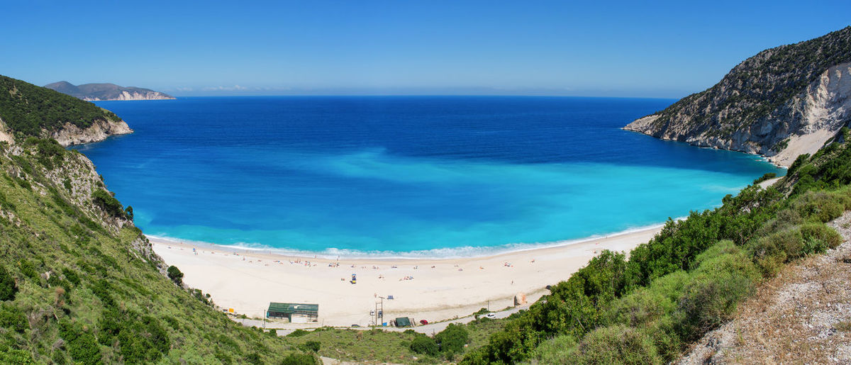 The famous and beautiful Myrtos Beach Amazing Beach Beauty In Nature Blue Cephalonia Coastline Coastline Landscape Greece Horizon Over Water Idyllic Kefalonia Landscape Mountain Nature Outdoors Panoramic Scenics Sea Shore Summer Tourquise Sea Tranquil Scene Travel Destinations Vacations Water EyeEmNewHere The Great Outdoors - 2017 EyeEm Awards Live For The Story Sommergefühle Been There. Summer Exploratorium The Great Outdoors - 2018 EyeEm Awards The Traveler - 2018 EyeEm Awards