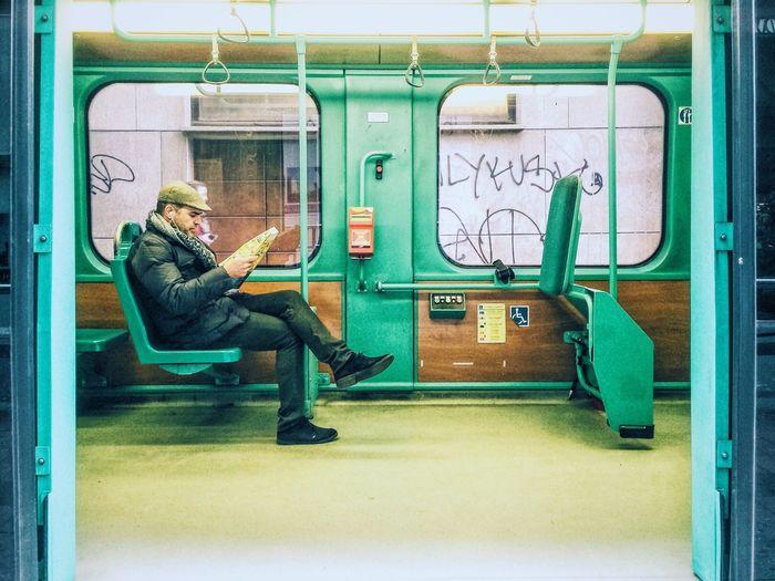 Framed. Commuting Traveling NEM Street