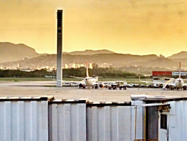 Rio De Janeiro Airport Evening Sky Airplane