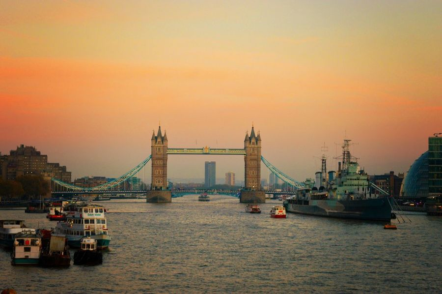 Tower Bridge  LONDON❤ London London Calling London Bridge London Skyline Sunset London At Sunset