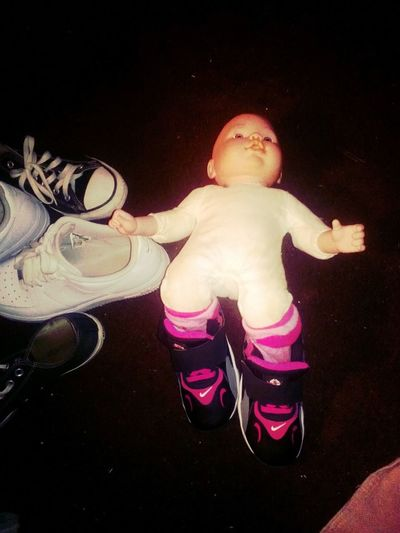 -__- My Niece Put Her Shoes On Her La' Ugly Baby