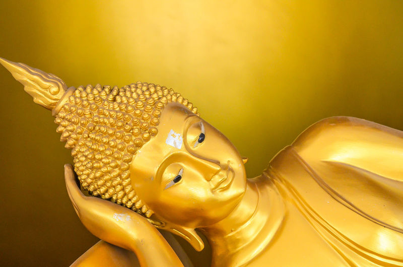 Close-up Day Gold Colored Horizontal Indoors  No People Religion Sculpture Statue Yellow