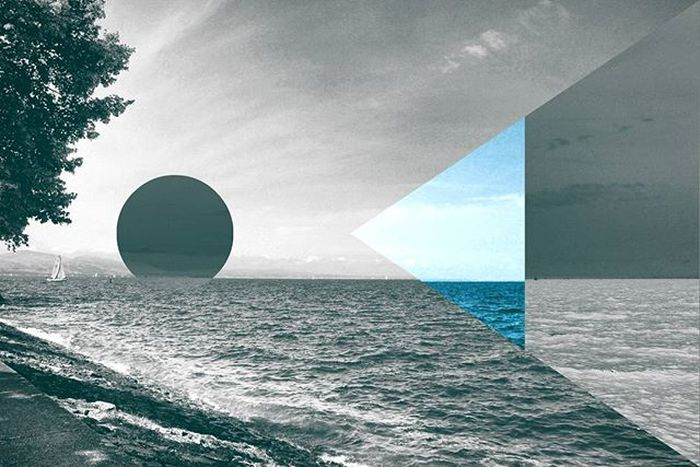 Beach View . Artistic Abstract . Done by the D3lta App