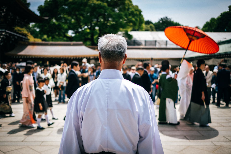 Japan '17 Adult Bokeh Bokeh Photography Crowd Day Focus On Foreground Japan Japan Photography Large Group Of People Men Outdoors Parc People Real People Rear View Religion The Photojournalist - 2017 EyeEm Awards Tokyo Tokyo Street Photography Tokyo,Japan