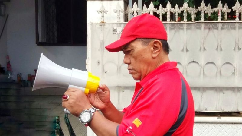 Holding INDONESIA People Adult Red Only Men Day Independence Day