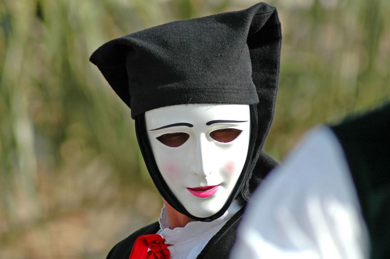 Mature Woman Wearing Mask