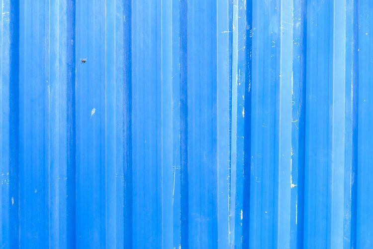 Full frame shot of blue corrugated iron