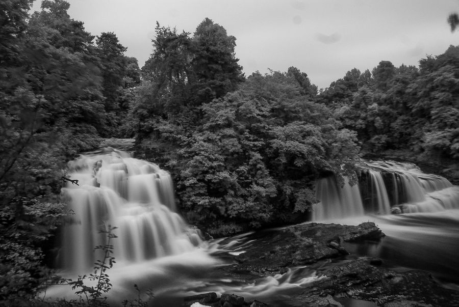 Scotland's Scenery Eyeem Scotland  Tree No People Motion Nature Waterfall Water Beauty In Nature Long Exposure Statue Scenics Outdoors Growth Day Sky New Lanark