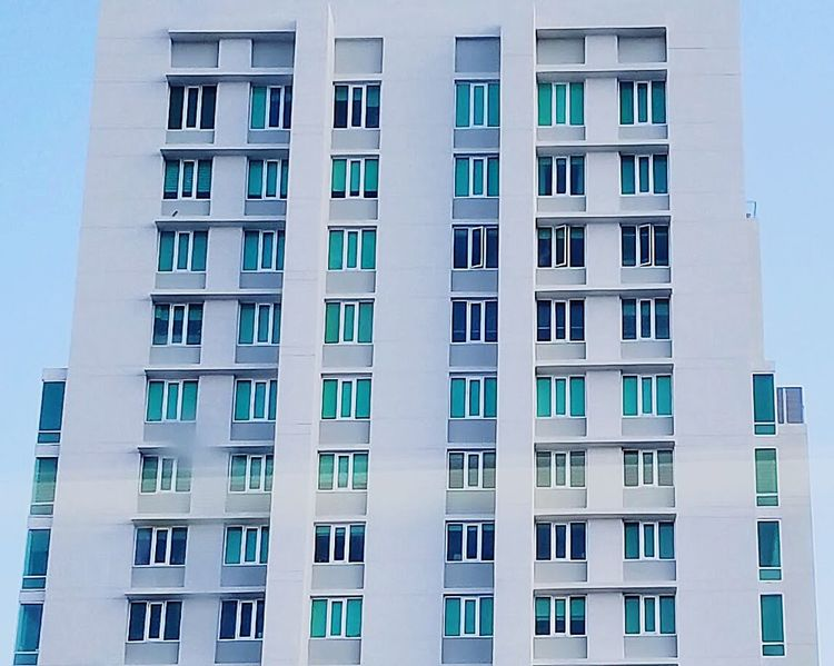 Building Exterior Architecture San Juan PR Window Repetition Apartment City Low Angle View Modern Beautifully Organized Outdoors Backgrounds Day Sky Maximum Closeness Open Edit Perspective Chance Encounters Minimalism Architectural Detail Fine Art Photography Color Palette Color Blockıng Windows Colors Of My City The Architect - 2017 EyeEm Awards Colour Your Horizn