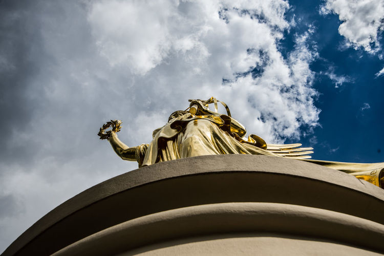 Architectural Column Architecture Berlin Blythe Built Structure City Cloud - Sky Cloudy Column Germany Gold History Monument Outdoors Photo Photographer Sky Sky And Clouds Sky_collection Travel Travel Destinations Travel Photography Victory Victory Column Berlin White