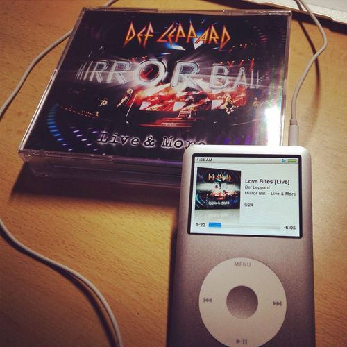 "Def Leppard Mirror Ball Ipod Love Bites ""If you've got love in your sights, Watch out, Love bites"""