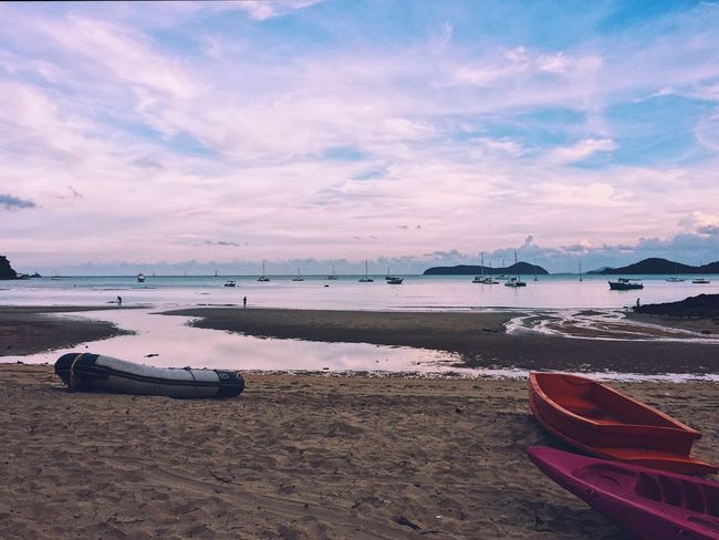 Beach Sea Sand Water Nautical Vessel Nature Scenics Sky Beauty In Nature Tranquil Scene Tranquility Horizon Over Water Wave Beachlife Beach Life Beach Photography Evening Glow Cloud - Sky Transportation Moored Travel Destinations Outdoors Sunset No People Day