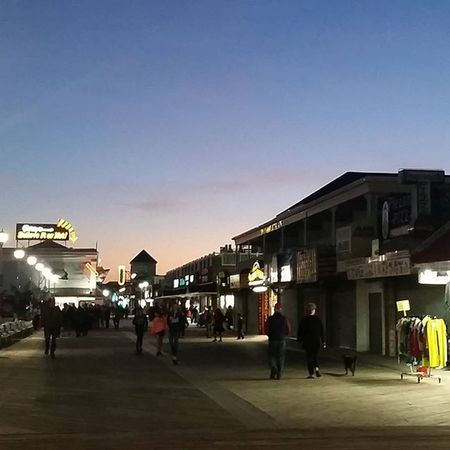 Out in shorts and flip flops on the boards at Sunset ... Oceancitycool OceanCity Maryland Ocmd Boardwalk Weather