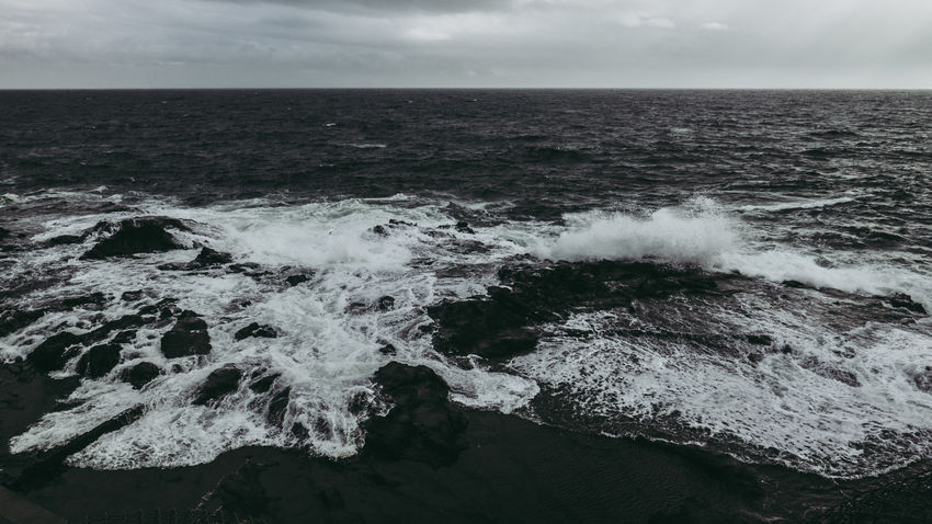 Cold Dark Japan Japan Photography Motion Nature No People Ocean Outdoors Sea Stormy Tranquility Water Wave