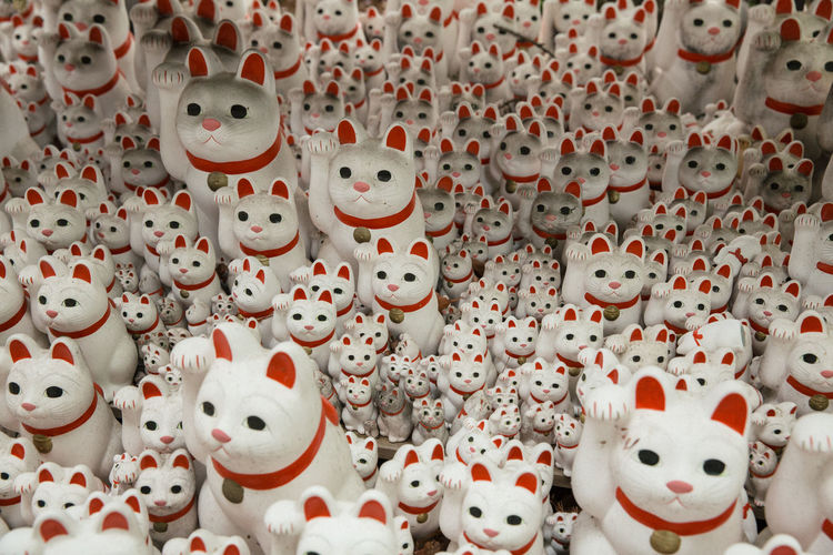 Cats Cats Of EyeEm Crafts Culture Culture And Tradition Hand Made Japan Japan Photography Japanese Culture Manekineko Pattern Repetition Sculpture Tradition