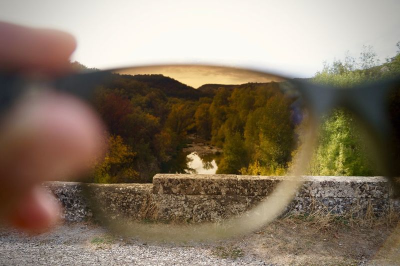 Adult Day Depth Of Field Mountain Nature One Man Only One Person Only Men Outdoors People Seen Through Glass Sky Sunglasses Tree