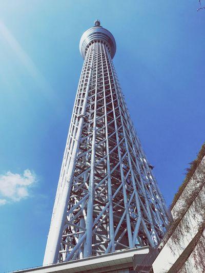 Tokyo sky tree Sky Tower Japan Tokyo Blue