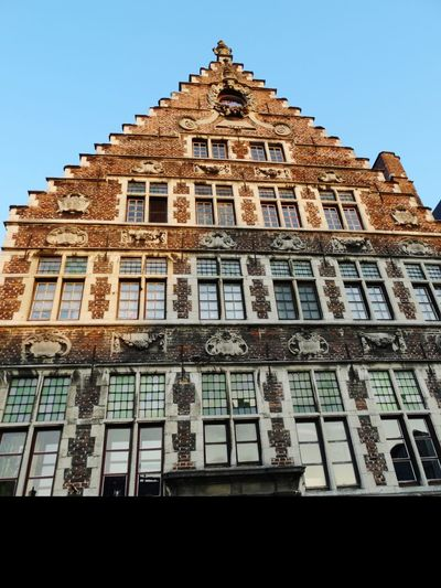 Architecture Travel Destinations History Building Exterior Low Angle ViewFlamand Architecture Ghent,Belgium Ghent Ghent Canal Built Structure Day No People Royalty Outdoors King - Royal Person Politics And Government Sky