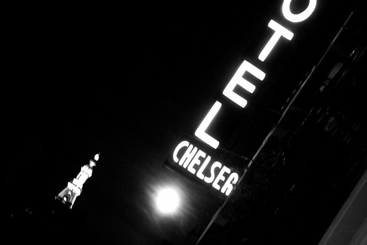 Full moon rises over the Chelsea Hotel 23rd Street  Chelsea Hotel Full Moon I Love NYC NYC NYC Street Photography Black And White Devin Delano