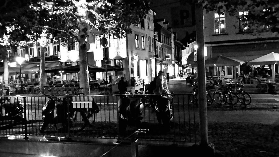 Cafe Vrijthof Maastricht Nightlife City Building Exterior Architecture Real People Street Built Structure Night City Life Illuminated Motor Vehicle People Group Of People