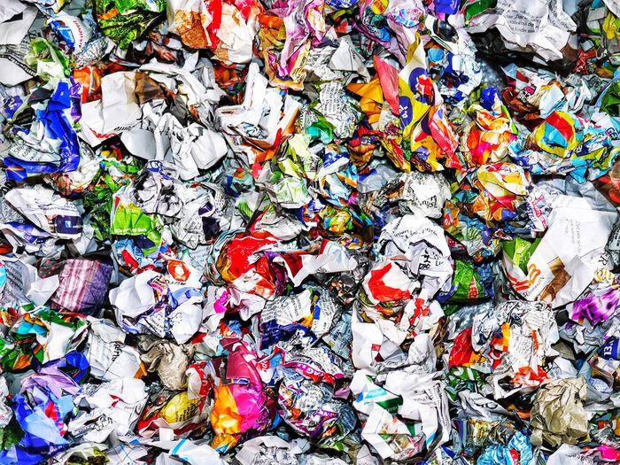 Full Frame Shot Of Crumpled Newspapers