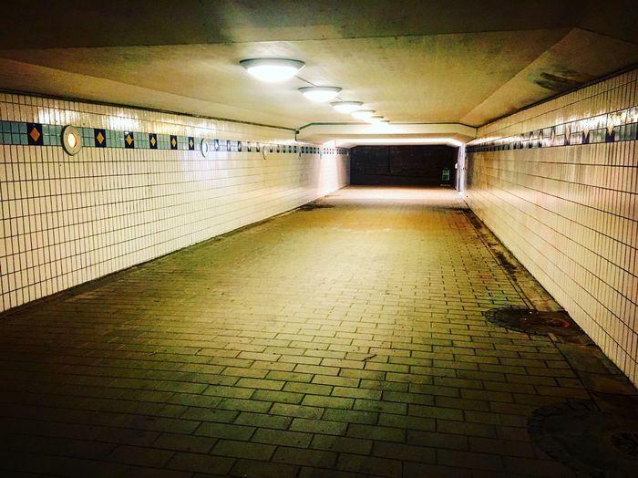 Subway Underground Walkway Suburbia Stockholm