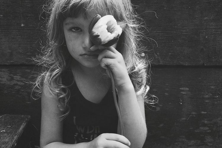 One Person Portrait Beauty Close-up Human Hand Lilypad Girl Sadness Crying Homesick  Curls Bangs Black And White The Portraitist - 2017 EyeEm Awards