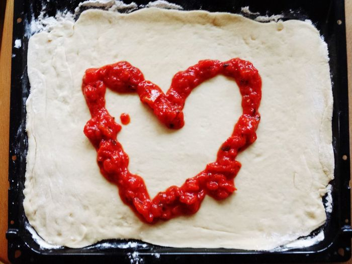 Italian Cuisine Baking Baking Tray Heart Shape Baking Pizza Making Pizza Cooking Red Sauce Foodphotography Dough Pizza Dough Italian Food Preparing Food Pizza Love Love Heart Heartshaped Tomatoes Tomato Tomato Sauce Pizza Pizzalover Pizza Making Pizza Margherita Margherita