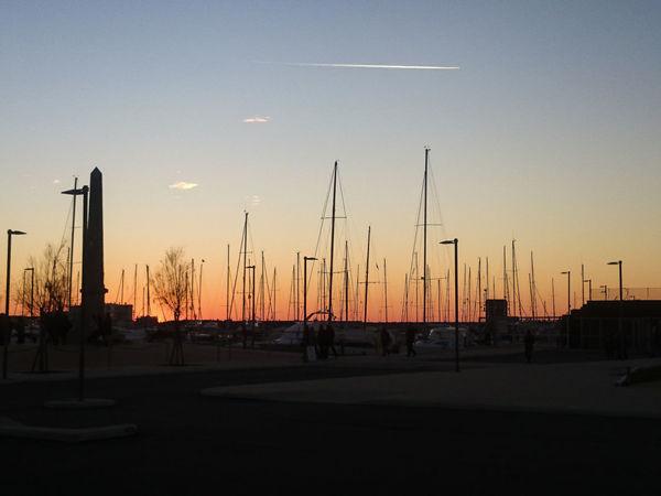 Barche A Vela Harbor Harbour Mare Porto Sailing Boat Sea Sunset Tramonto