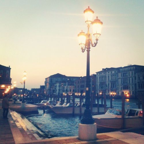 SMariadellaSalute Venice Lights Banchina evening Austin