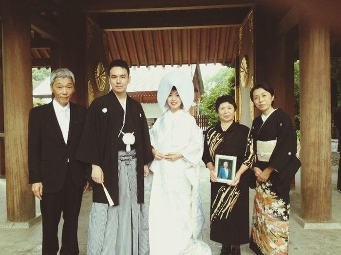 結婚式を挙げました On the day of my wedding Wedding Tradition Family