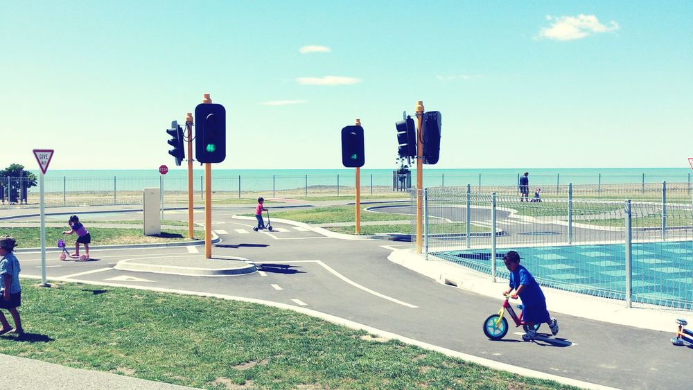 Learning By Doing Marineparade Napierbeach Traffic Sign People And Places Kids Caution ⚠️ Onlychild EyeEm Gallery EyeEm Best Shots Outdoor Photography Capture The Moment Popular Photos Urbanphotography