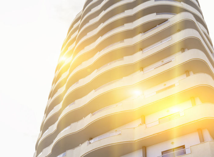 Abstract building on a white background in the sun. Glitch and abstract Glitch Abstract Abstract Art Architecture Building Building Exterior Close-up Day Fragment Glitch Art Illuminated Lighting Equipment Low Angle View Minimalism No People Outdoors Sky The Graphic City
