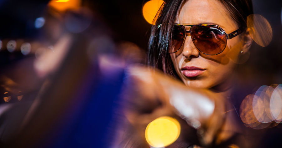 Adult Adults Only Close-up Eyeglasses  Indoors  Night One Person One Woman Only People Protective Eyewear Real People Selective Focus Sunglasses Women Young Adult