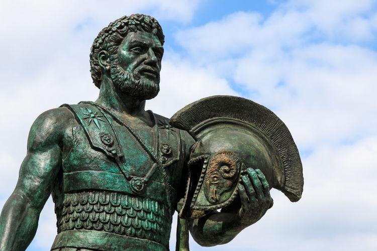Close-Up Of Warrior Sculpture