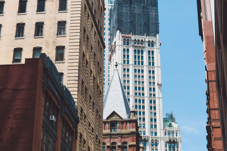 Manhattan NY NYC New York New York City Architecture Building Exterior Built Structure City Day Low Angle View No People Outdoors Residential Building Sky Window