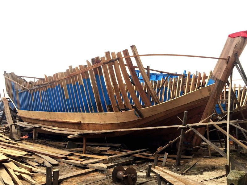 Ship Ships Construction Ship Construction TriShot Quang Ngai, Vietnam Quang Ngai Wood - Material Fishery  Fishery Vessel