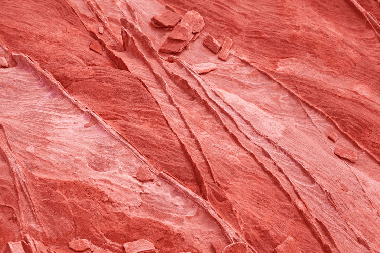 Fashionable stone background and texture in coral color - Image Backgrounds Textured  Textured Effect Eroded Sandstone Abstract Backgrounds Marble Pattern Solid Geology Rock Full Frame No People Red Coral Nature Rock - Object Trendy Wallpaper Stylish Horizontal Candid Abstract Texture Colorful