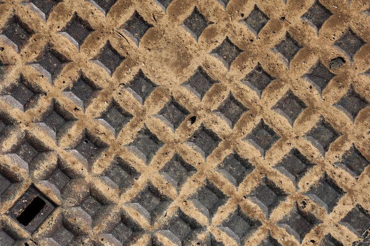 Full frame shot of metal flooring
