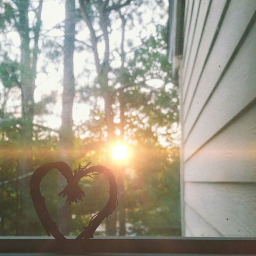 Sunset love Autumn Colors Heart Viewfrommybedroom