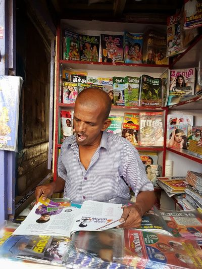 Magazines Reading Reading A Book Yawning People Shop Store Shopkeeper Travel Street Sleepy Book Business Stories