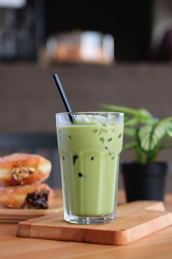 Matcha Food And Drink Straw Drinking Straw Food Drink Focus On Foreground Freshness Table Refreshment Glass Healthy Eating Drinking Glass Household Equipment Close-up Fruit No People Indoors  Wellbeing Still Life Ready-to-eat Matcha Matcha Latte