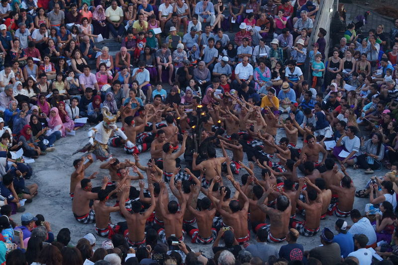 Cakk cakk kecak Large Group Of People Crowd High Angle View Real People Celebration People Audience Lifestyles Women Outdoors Cheering Leisure Activity Watching Adults Only Stadium Match - Sport Adult Men Day Track And Field EyeEmNewHere