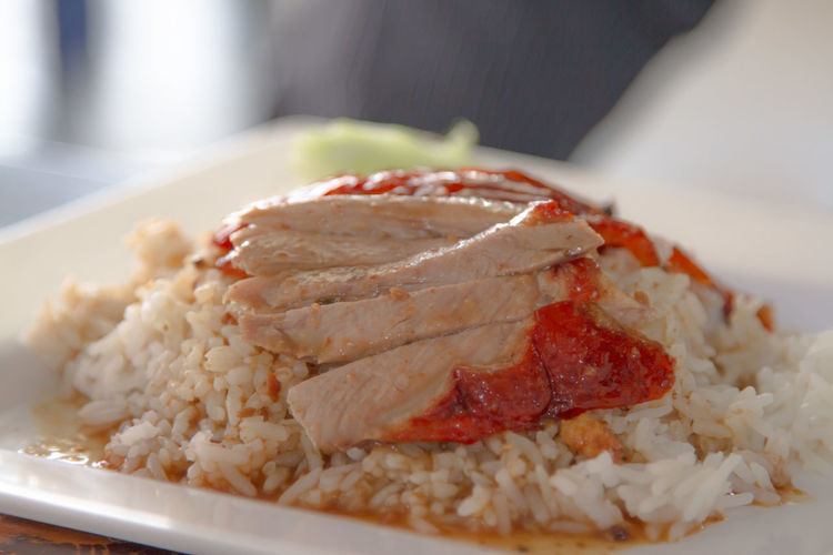 Close-up Day Duck Over Rice Food Food And Drink Freshness Fried Rice Healthy Eating Indoors  No People Plate Ready-to-eat Rice Rice - Food Staple Serving Size Thailandtravel