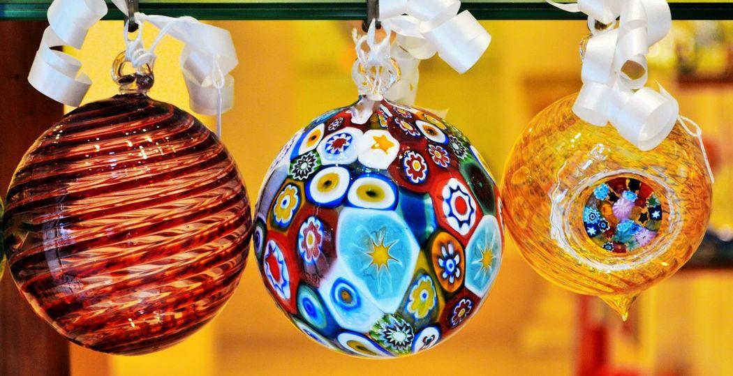 Artigianato Artigianatoitaliano Choice Christmas Close-up Color Day Handmade Hanging Indoors  Multi Colored Murano Glass Murano Italia Murrina No People Party Sfere Variation Venezia #venice Vetromurano