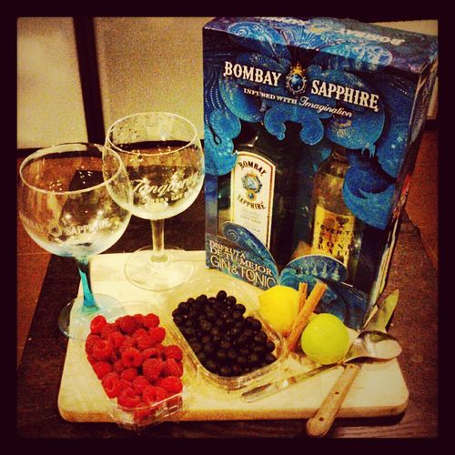Party Cocktails Gin Tonic Gintonic Bombaysapphire