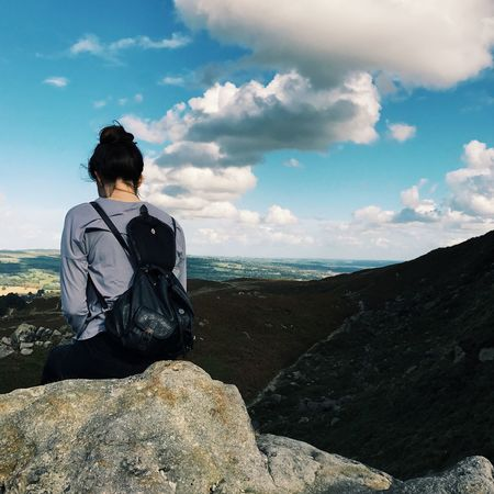People And Places United Kingdom Ilkley Moor Ilkley Yorkshire Cowandcalf Cloud Sky
