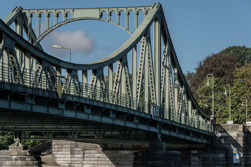 Architecture Blue Bridge Bridge - Man Made Structure Brücke Built Structure City Life Connection Day Engineering Famous Place Glienicker Brücke Glienickerbrücke Low Angle View No People Outdoors Sky Tourism Transportation Zehlendorf