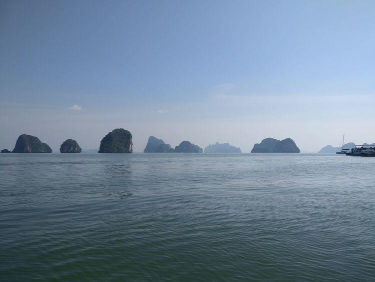 Blue Blue Sky Island Rocks Horizon Sea Clear Sky Sunny Exotic Peaceful Bay Water Travel Destinations No People